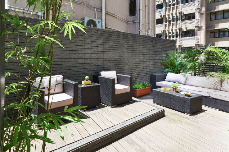 Shama Chill rooftop area