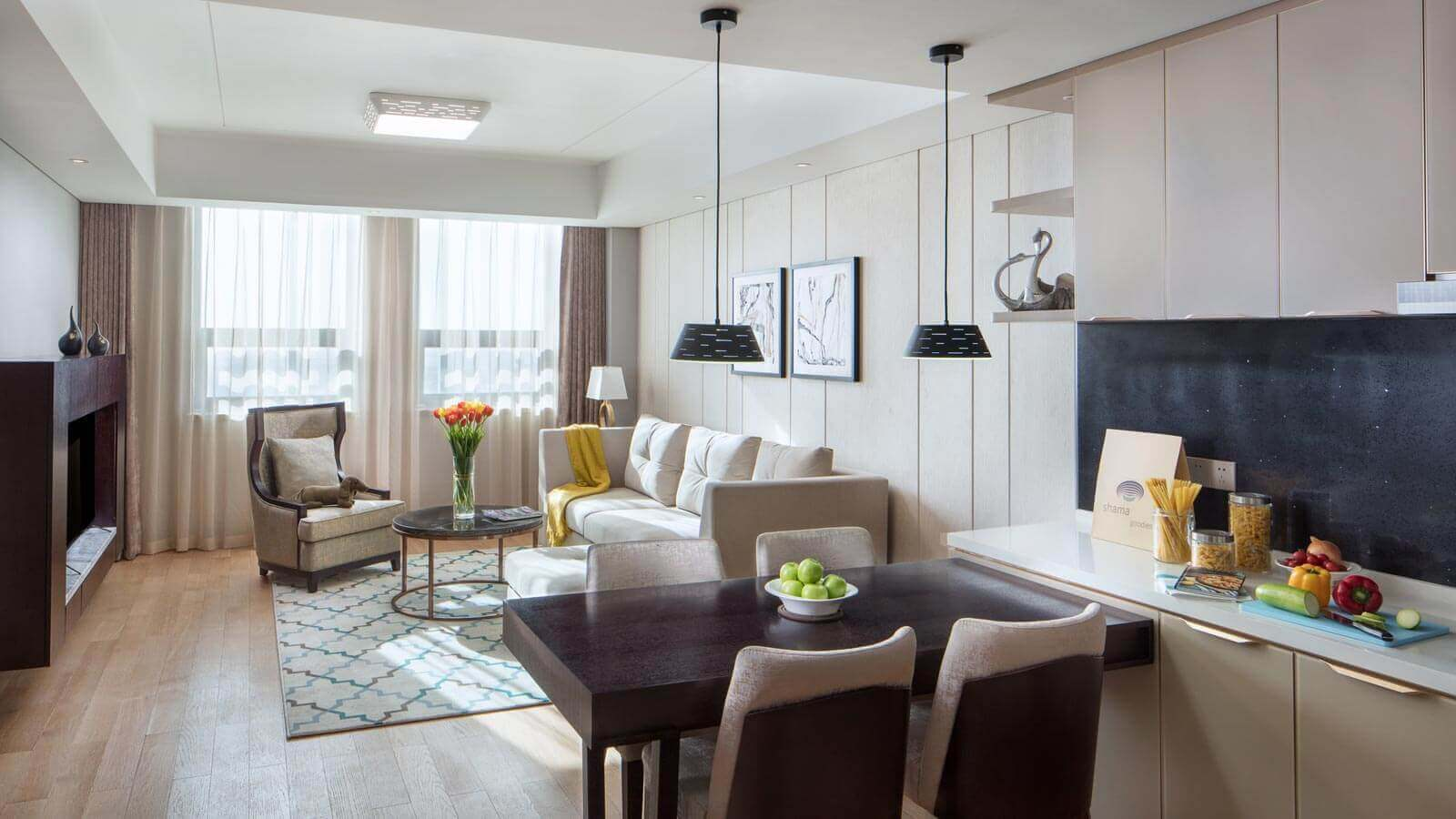 One Bedroom - Living and Dining Area
