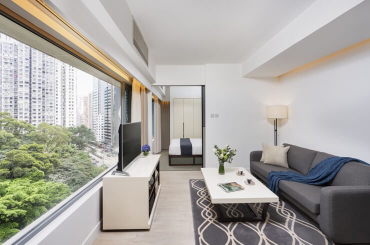 Shama Fortress Hill Hong Kong - One Bedroom Living area - Bedroom