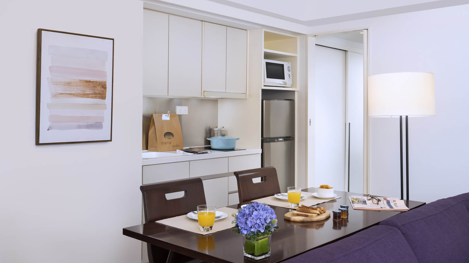 Two Bedroom with Terrace - Dining Area Kitchen