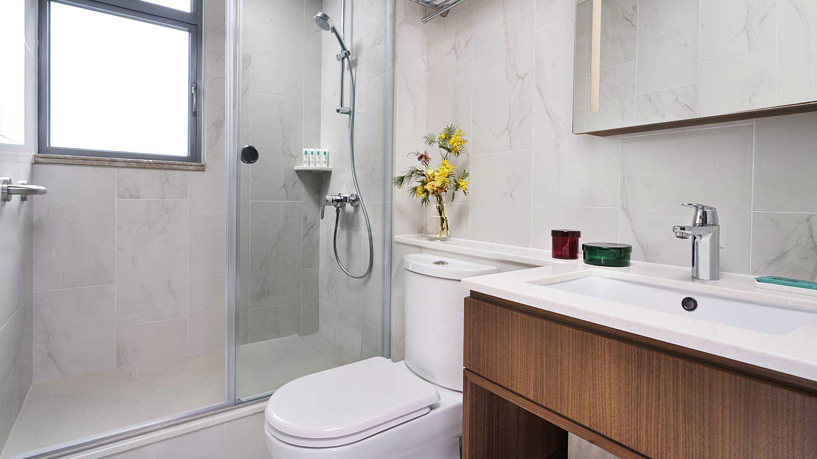 One Bedroom with Large Terrace - Bathroom