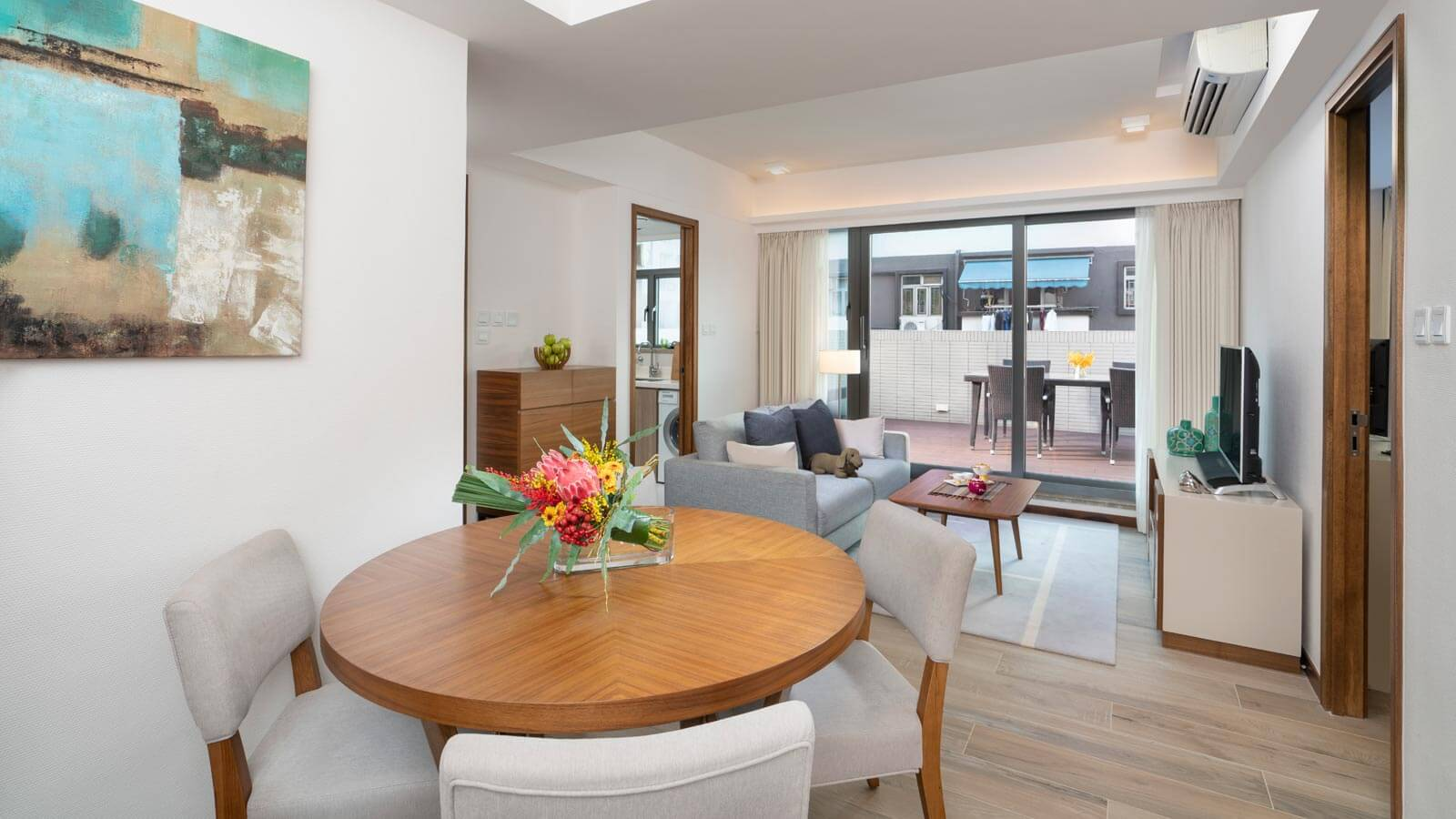 Two Bedroom with Terrace - Living Room and Dining Area