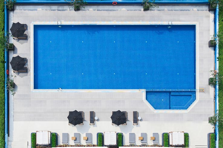 Outdoor lap pool - Shama Lakeview Asoke Bangkok