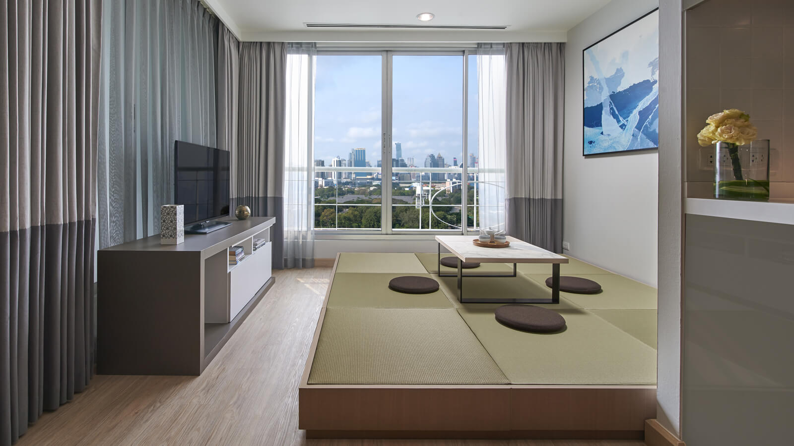 Studio Lakeview - Tatami and living area